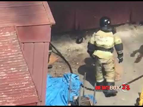 На Ивановской пожарные тушили автомобильный гараж и спасли автомобиль