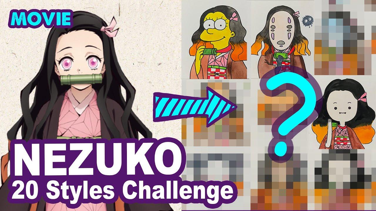 NEZUKO - 20 STYLES CHALLENGE by Huta Chan