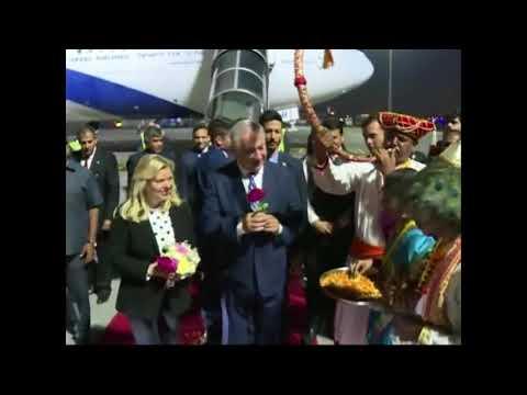 Grand welcome in Mumbai of Mrs Netanyahu and Israeli PM Hon Benjamin Netanyahu