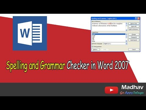 Spelling And Grammar Checker In Word 2007