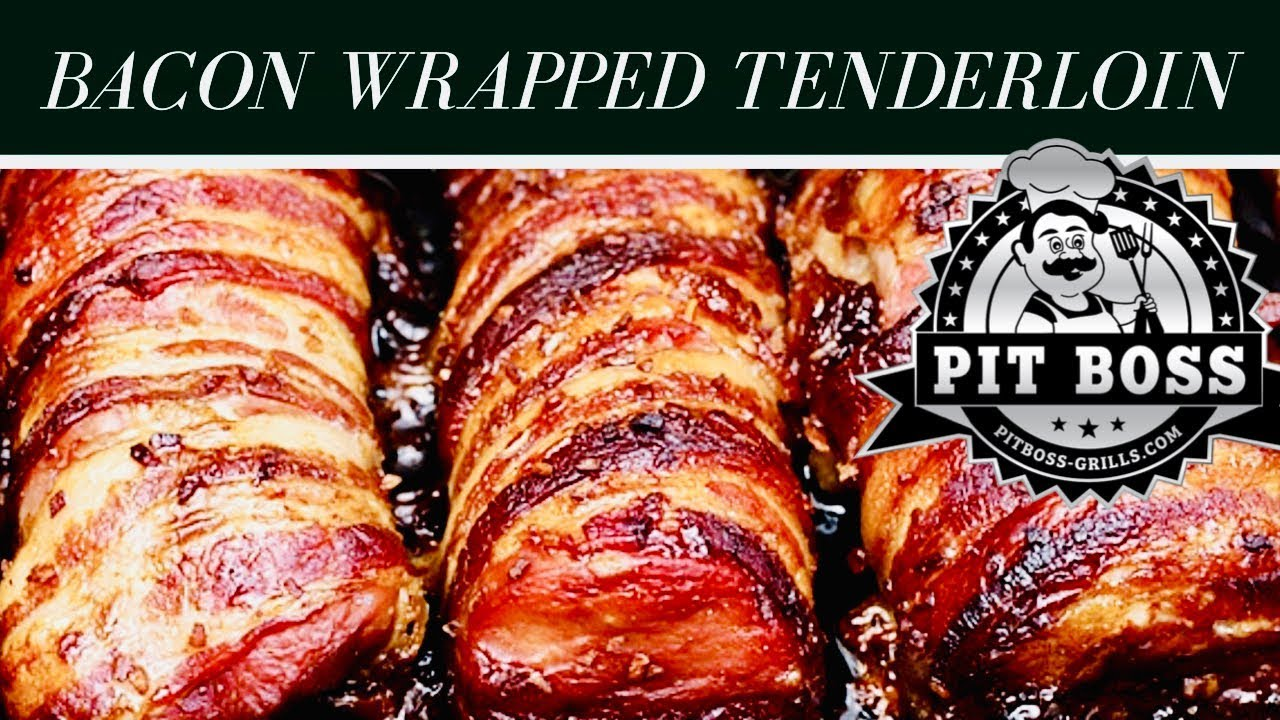 Bacon Wrapped Pork Tenderloin Done On