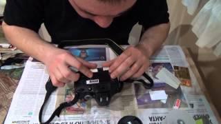 Наклейка защитной пленки на монитор зеркальной фотокамеры