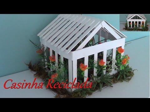Artesanato-Passo A Passo Para Decoração Reciclada Com Palitos, Papelão E Flores(DIY)