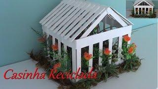 Mobile artesanal casinha para decoração de interiores e jardins