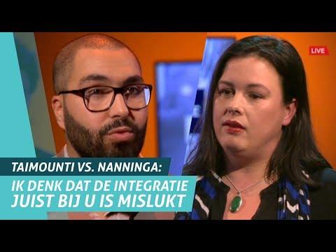 Mourad Taimounti (DENK Amsterdam) vs Annabel Nanninga (FvD)