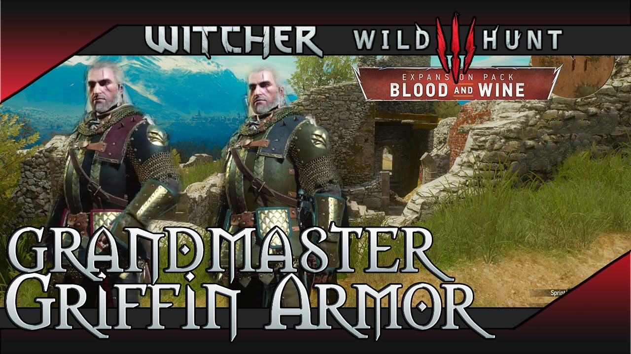 The Witcher 3 Blood And Wine Grandmaster Griffin School Gear Set Location Scavenger Hunt Youtube