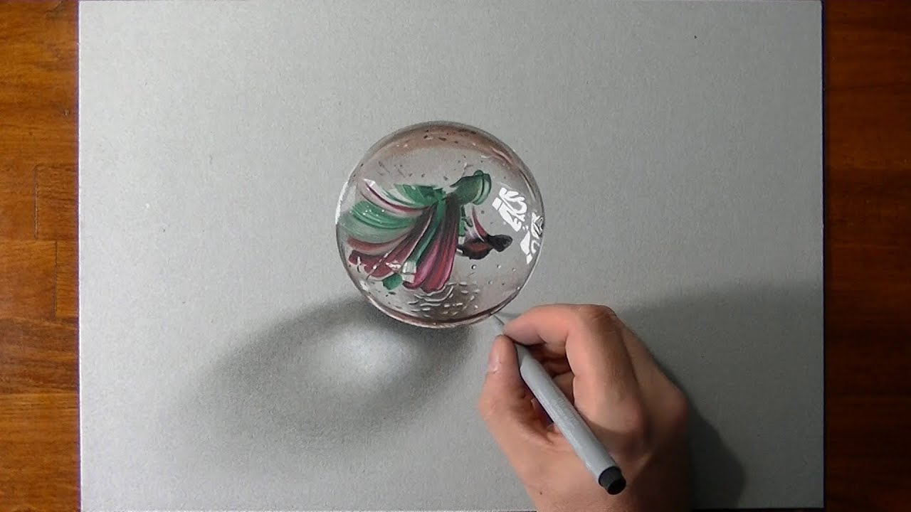 Colored Pencil Drawings Of Marbles : Disegno realistico in timelapse biglia youtube