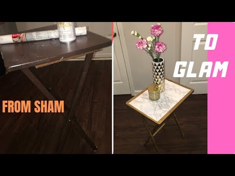 DIY LUX MARBLE TABLE