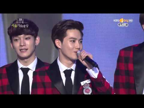 [Eng subbed] 140123 SMA EXO Bonsang + Digital Award + Daesang Speech
