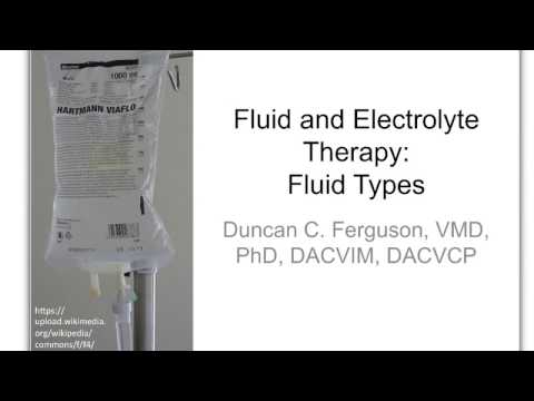Fluid Therapy 3:  Fluid Types