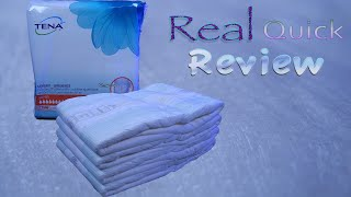 "Real Quick Review Tena  ""Proskin"" Super  #adultdiaper"