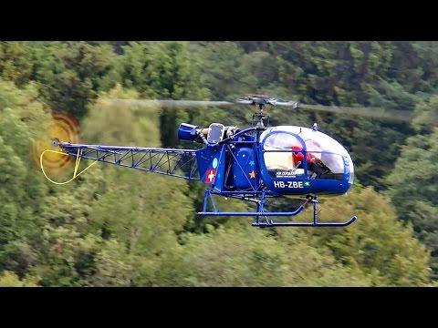 SA-315 B LAMA GIGANTIC SCALE RC TURBINE MODEL HELICOPTER / Turbine Meeting 2015 *1080p50fpsHD*