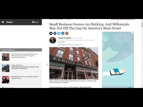 Why aren't Millenials buying Main St. Businesses from Boomers? How to Buy Sell a Business