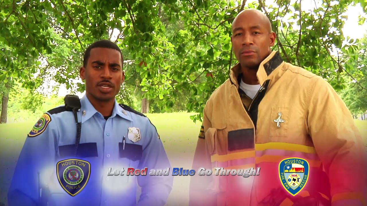 """Download """"Let Red and Blue Go Through"""" PSA (Houston Police Department, HPD Video Production, CG)"""