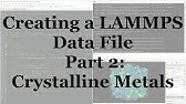 How to make LAMMPS Input data file from model file ? - YouTube