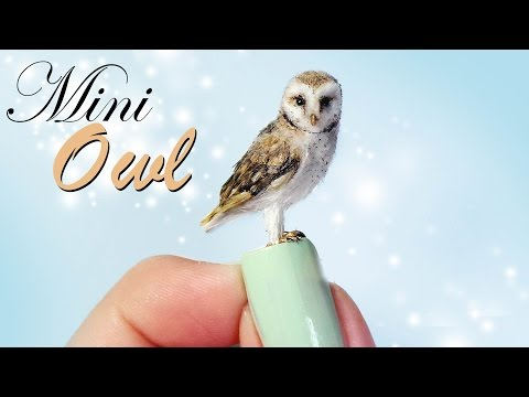 Miniature Owl Tutorial // Dolls/Dollhouse DIY