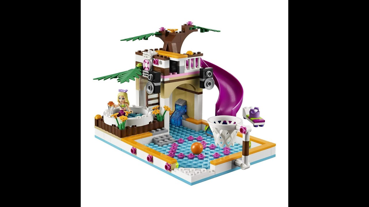 lego friends la piscine d 39 heartlake city jouets pour les. Black Bedroom Furniture Sets. Home Design Ideas