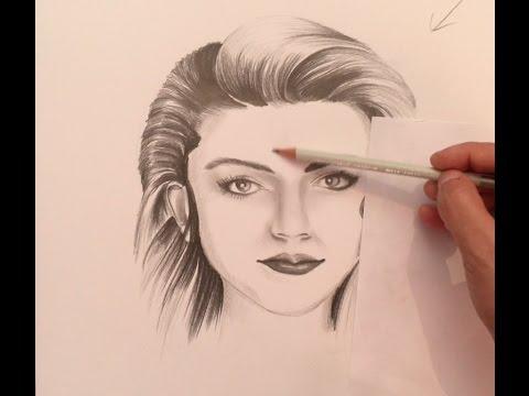 Temel Karakalem Resim Portre Dersleri 10gölgeleme Youtube
