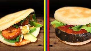 Venezuelan Arepa 2 Ways ! Corn Muffins Sandwiches & Burger ! Arepa Venezolana