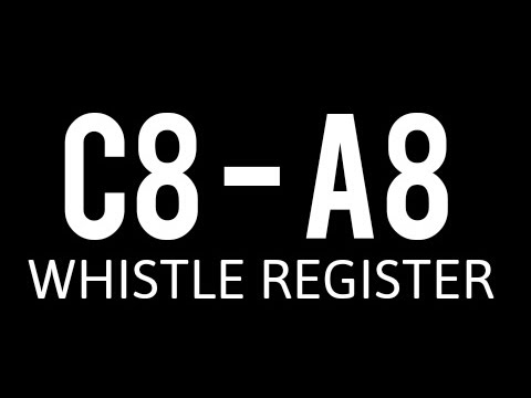 (EPIC HIGHEST) WHISTLE REGISTER MALE C8-A8 WHISTLE TONE 8 OCTAVE NOTES