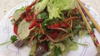 86.. Очень вкусный и сочный салат с куриными желудочками.