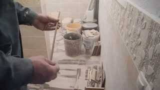 Как отрезать узкую полоску плитки.(В ролике подробно показан способ,как отрезать узкую полоску половой плитки,шириной 7-10 мм.,когда это не возм..., 2014-01-25T18:03:57.000Z)