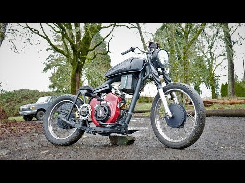 homemade motorcycle 51MPH... Go powersports 40 series clutch!