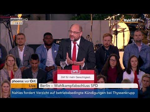 Wahlkampfabschluss SPD: Rede von Martin Schulz am 22.09.2017
