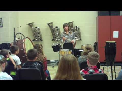Percussion Lesson for Sixth Grade General Music November 2016