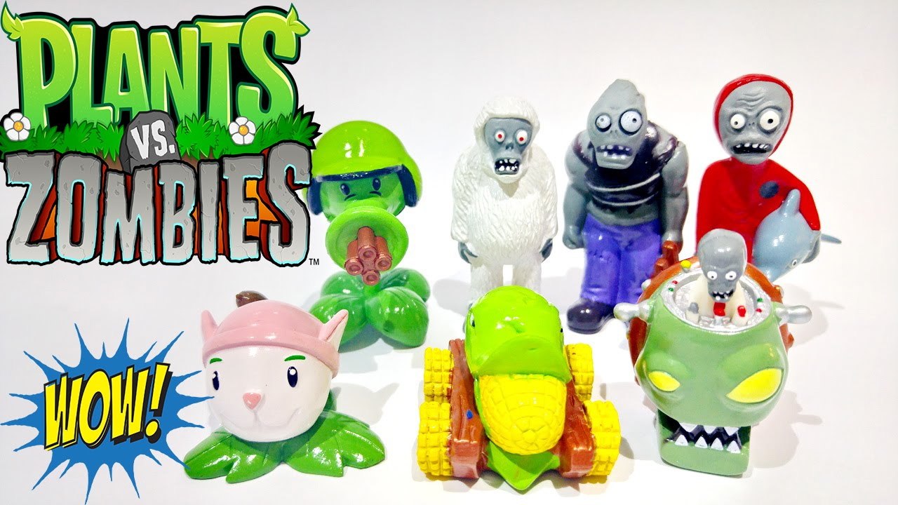 Play Doh Plants Vs Zombies Toys Action Figure Surprise Egg