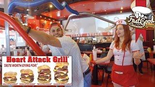 BURGER DE 7000 CALORIES - La fessée au Heart Attack Grill ?