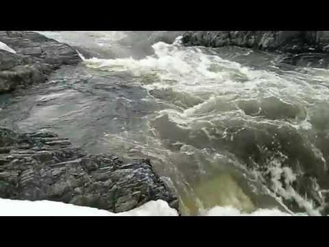 Flyfishing salmon in Repparfjordelva HD
