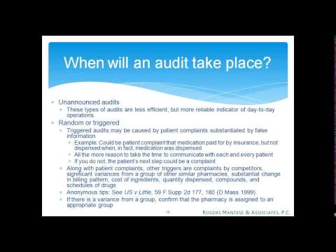 Audits - What Every Pharmacist Should Know