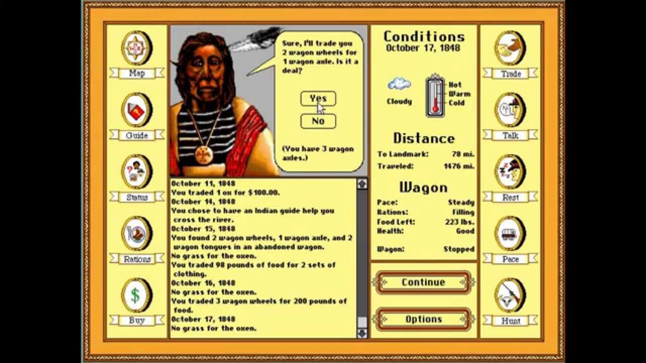How to Beat The Oregon Trail PC Game With Teacher in 50 Minutes  [HD]