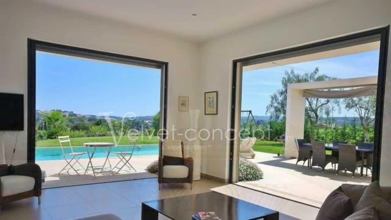 Vente villa contemporaine biot youtube for Villa contemporaine