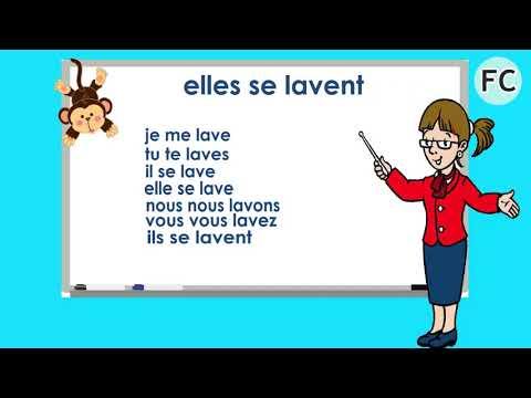 Le verbe se laver au Présent to wash yourself present tense