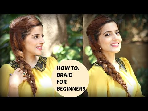 How To: Braid Your Own Hair For Beginners | Everyday Indian Hairstyles for medium to long hair