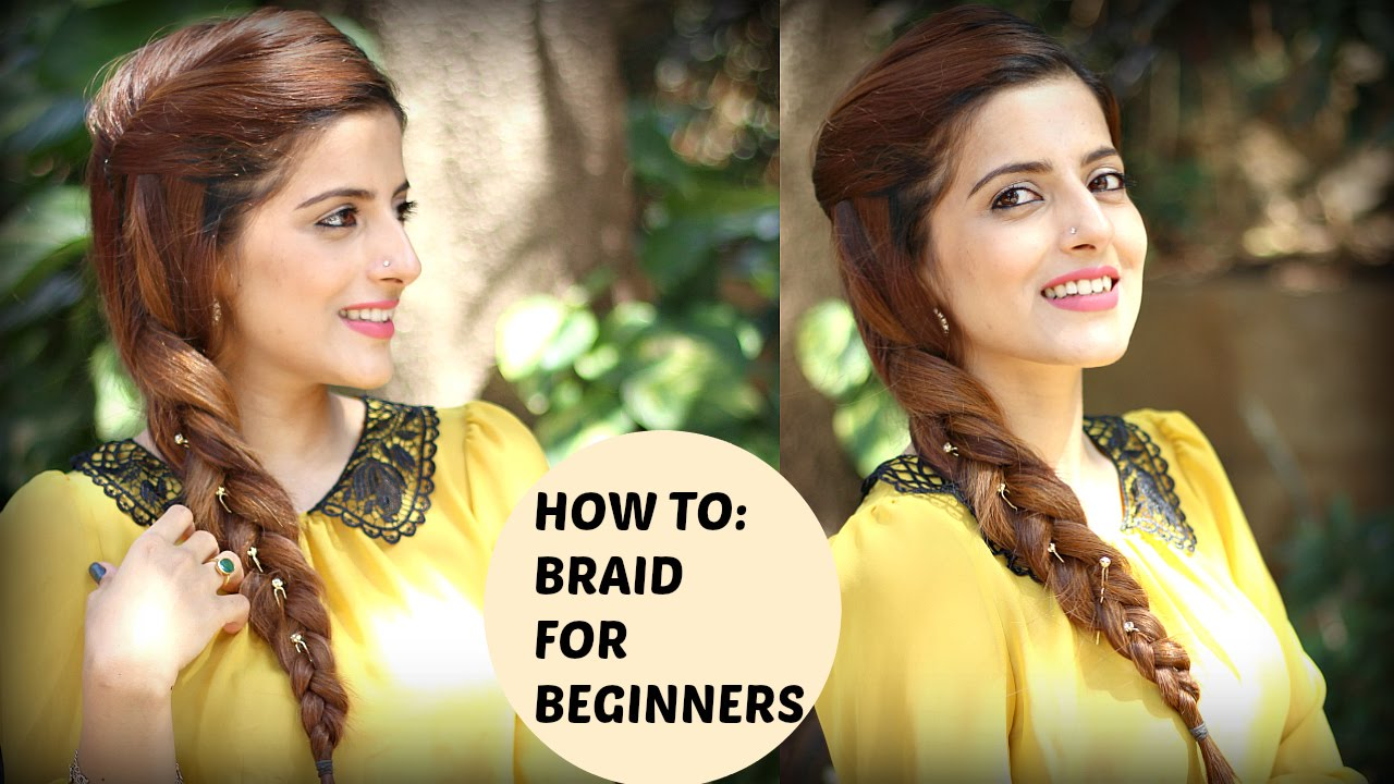 How To: Braid Your Own Hair For Beginners  Everyday Indian Hairstyles For  Medium To Long Hair