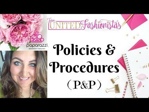 Paparazzi Policies & Procedures