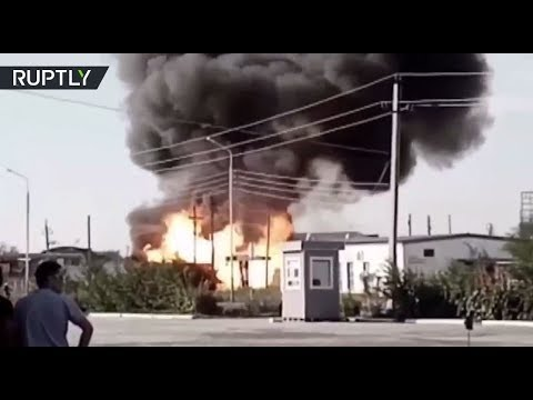 لحظة انفجار بمحطة وقود في مدينة كازاخستانية  - نشر قبل 9 ساعة