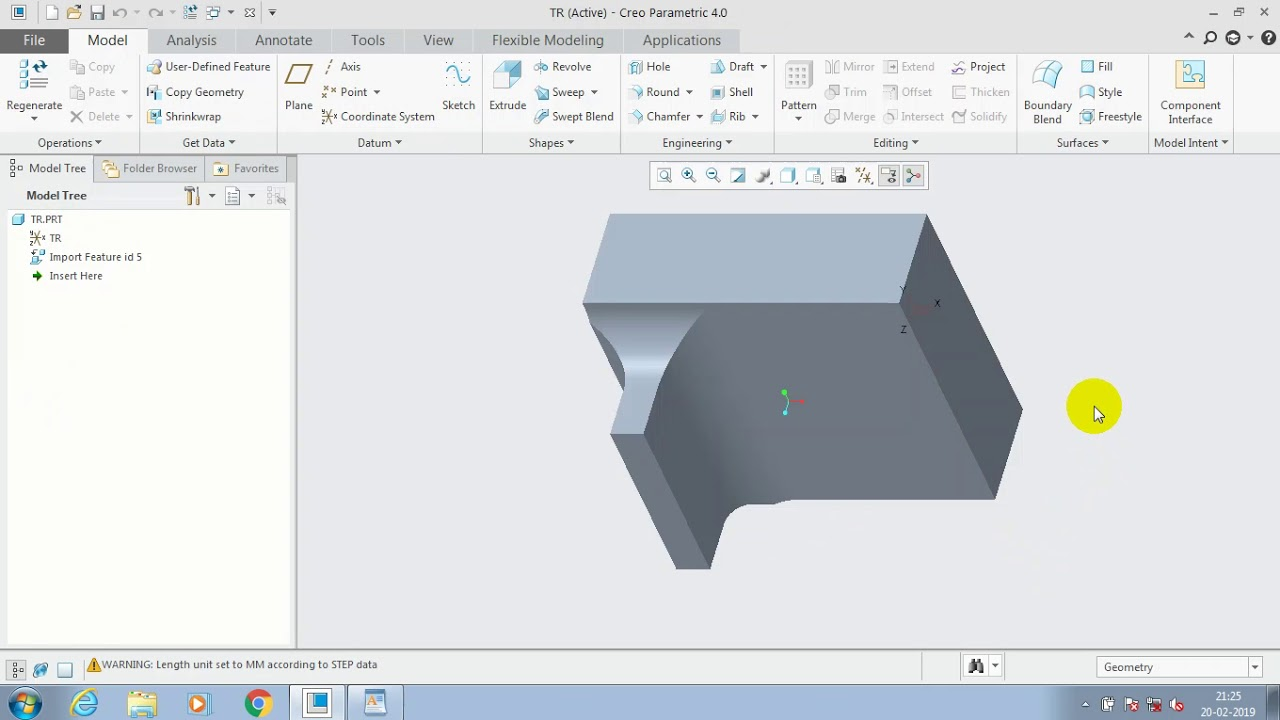 HOW TO IMPORT STEP FILE, SOLIDWORKS, CATIA FILES ON CREO 2 0/3 0/4 0