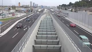 【千葉外環】開通後の国分地区周辺(道の駅いちかわ・市川北IC)