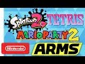Tetris, Splatoon 2, ARMS, Mario Party 2   NWC 2017 (Pt. 3) Highlights