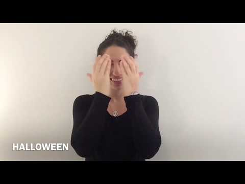 How To Sign HALLOWEEN In American Sign Language, With Practice Sentences.