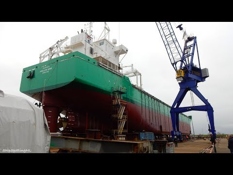Launch (Tewaterlating) of 'ARKLOW WIND'✅ at Ferus Smit in Leer, Captured From all Angles - #966NL