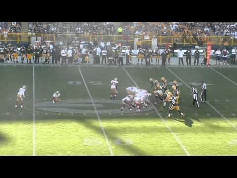 David Akers 63 yard FIeld Goal at Lambeau Field 49ers at Packers 9/9/12