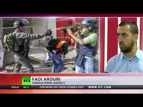 Israeli police beat & pepper spray Palestinian journalists
