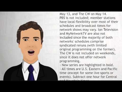 2015 16 United States network television schedule - Wiki Videos