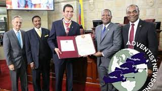 Colombian congress honors ADRA for its decades-long contribution to disaster relief and community b