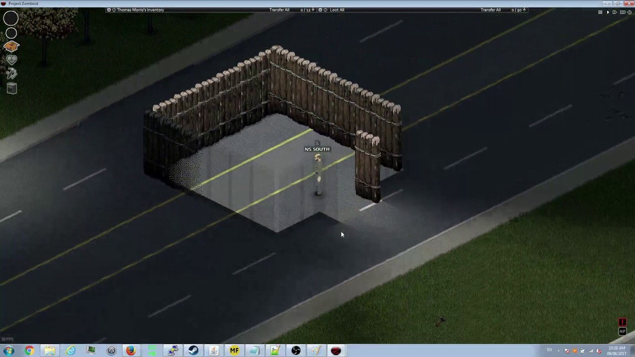 Building A Gate From Log Walls Project Zomboid Mod Youtube